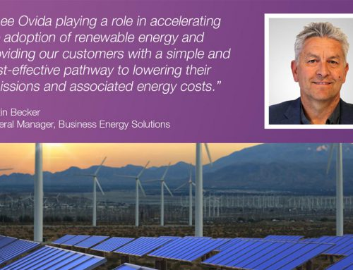 Ovida welcomes new General Manager of Business Energy Solutions